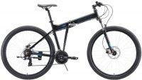 """Горный велосипед Stark Cobra 29.2 HD 20""""/2020, черный/голубой (H000016455)"""