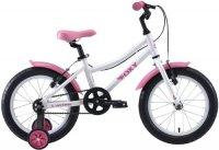 Велосипед детский Stark Foxy 16 Girl 2020, белый/розовый (H000016493)