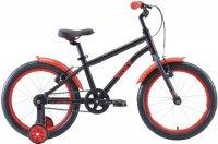 Велосипед детский Stark Foxy 18 Boy 2020, черный/красный (H000016490)
