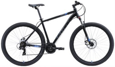 """Горный велосипед Stark Hunter 29.2 D 18""""/2020, черный/серый/голубой (H000015944)"""