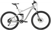 """Горный велосипед Stark Tactic 27.5 FS HD 20""""/2020, серебристый/серый (H000016248)"""