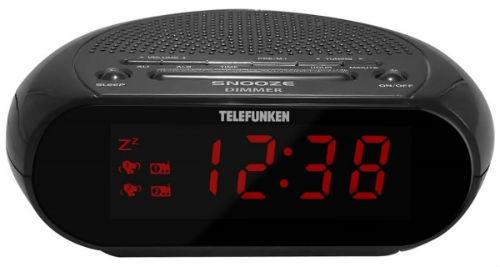 Часы с радио Telefunken TF-1706 Black/Red