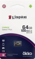 Карта памяти Kingston MicroSD Canvas Select Plus 64GB + промо Okko (SDCS2OK)