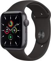 Смарт-часы Apple Watch SE 44mm Space Gray Aluminum Case with Black Sport Band (MYDT2RU/A)