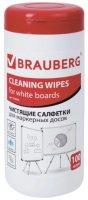 Влажные салфетки для маркерных досок Brauberg 100 шт (513029)