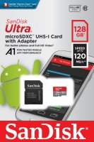 Карта памяти SanDisk Ultra 128GB UHS-I + адаптер (SDSQUA4-128G-GN6MA)