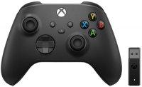 Геймпад Microsoft Xbox Black + PC адаптер (1VA-00008)