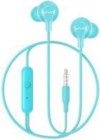Наушники с микрофоном vivo Color Earphones HP2033 Cyan