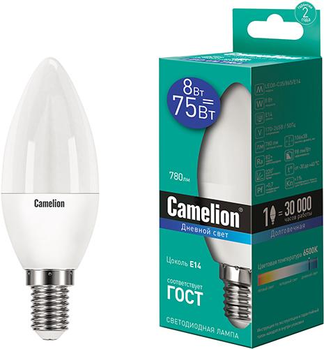 Светодиодная лампа Camelion LED8-C35/865/E14