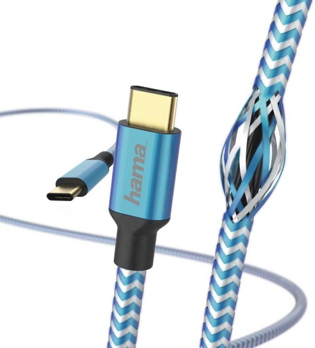Кабель Hama USB Type-C, 1,5 м Blue (00183288)