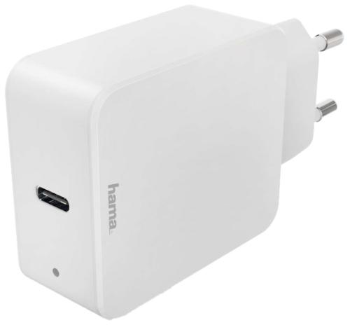 Сетевое зарядное устройство Hama PD/QC 3A USB Type-C White (00183277)