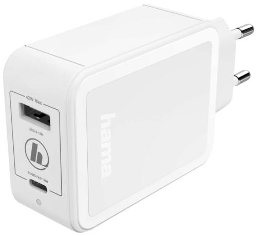 Сетевое зарядное устройство Hama PD/QC 3A White (00183320)