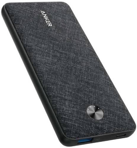 Внешний аккумулятор Anker PowerCore Sense 10000 PD Fabric Black (A1231H11)