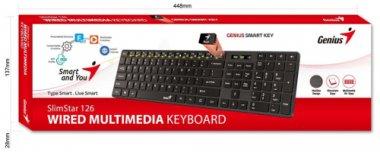 Клавиатура Genius Slimstar 126 Black (31310017402)