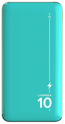 Внешний аккумулятор LYAMBDA 10000mAh PD+QC3.0 Slim Green (LP301-GR)