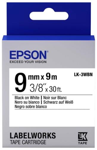 Лента для печати этикеток Epson Tape Standard Black/White 9/9 (C53S653003)