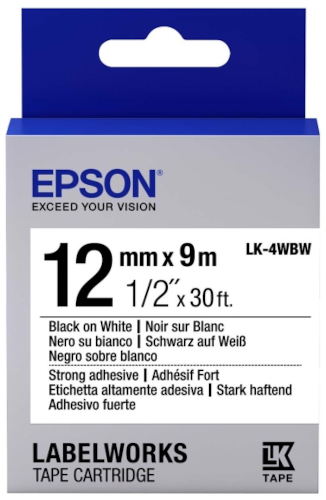 Лента для печати этикеток Epson Tape Standard Black/White 12/9 (C53S654016)