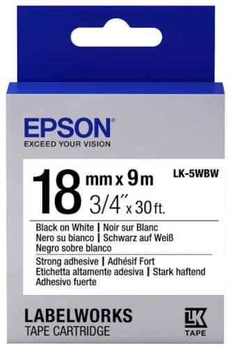 Лента для печати этикеток Epson Tape Standard Black/White 18/9 (C53S655012)