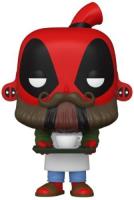 фигурка funko pop bobble marvel deadpool 30th backyard griller deadpool 54652 Фигурка Funko POP! Bobble: Marvel: Deadpool 30th: Coffee Barista (54653)