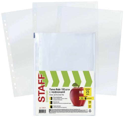 Папки-файлы Staff А4, 100 шт (224814)