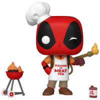 фигурка funko pop marvel deadpool 30th – construction worker deadpool bobble head 9 5 см Фигурка Funko POP! Bobble: Marvel: Deadpool 30th: Backyard Griller Deadpool (54652)