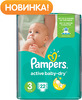 ���������� PAMPERS Active Baby Midi 5-9 ��., 22 ��. (81446636)