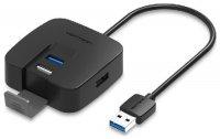 Разветвитель для компьютера Vention OTG USB 2.0/3.0 на 4 порта, 1 м Black (CHABF)