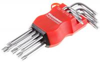 Набор торцевых ключей Hammer Flex, TORX 8 шт (601-031) набор торцевых ключей hammer flex 601 031 torx 8 шт t9 t10 t15 t20 t25 t27 t30 t40 crv