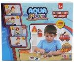 Мозаика 1toy Aqua Pixels: Пожарная станция, 480 деталей (Т13071)