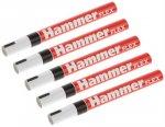 Маркер строительный Hammer Flex, 5 шт, черный (601-045)