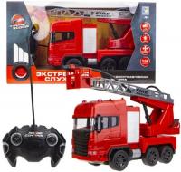 пожарная машина shantou gepai машина пожарная парковка красный b1695688 Машинка 1toy Экстренные службы: Пожарная машина, 42 см (Т17670)