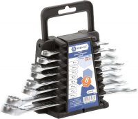 Набор комбинированных ключей Кобальт 8-19 мм, 8 шт (020103-08)