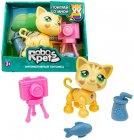 Интерактивная игрушка 1toy RoboPets: Милашка котенок, песочный (Т16980)