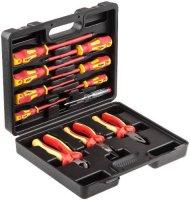 Набор ручного инструмента Hammer 602-013 диэлектрик (11 предметов, кейс)