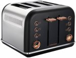 Тостер MORPHY RICHARDS 4 slices Accents Rose Gold Black (242104EE)