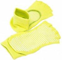 Носки противоскользящие Bradex SF 0276 с открытыми пальцами и подъемом, салатовые