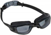 """Очки для плавания Bradex SF 0388 """"Комфорт+"""", черные, линзы прозрачные"""