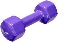 Гантель Bradex SF 0537 обрезиненная, 4 кг, фиолетовая