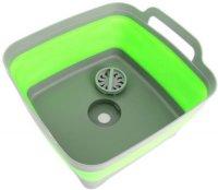 Корзина-раковина Bradex TD 0534 пластиковая, складная, с ручками, 9 л, зеленая