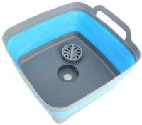 Корзина-раковина Bradex TD 0539 пластиковая, складная, с ручками,  9 л, синяя