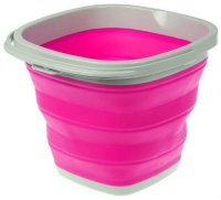 Ведро Bradex TD 0556 складное, квадратное, 10 л, розовое