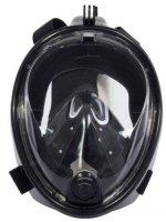 Маска для плавания и снорклинга Bradex SF 0371 с креплением для экшн-камеры, S/M, черная
