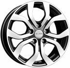 Колесный диск K-K Nissan Terrano (КСr704) 6,5\R16 5*114,3 ET50 d66,1 Dark Black (65851)