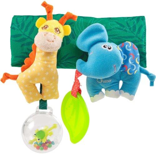 "Игрушка-подвеска Chicco ""Жираф и слоник"", на коляску (00010060000000)"