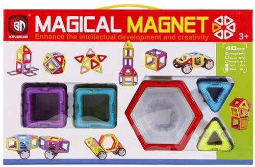 Конструктор детский Наша Игрушка 702 магнитный 3D
