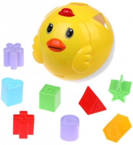 Развивающая игрушка Наша Игрушка 101001040 Цыпленок-сортер Бамбини