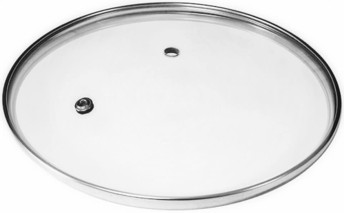 Крышка TIMA 26 см, без ручки, с металлическим ободом (4626н)