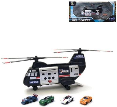 """Игровой набор Наша Игрушка """"Спецслужбы"""", вертолет, 4 машины (200664327)"""
