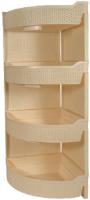 Этажерка Branq Nature, ротанг, угловая, 4 секции, слоновая кость (BQ3779СЛК) комод 4 секции plastic centre bq3773слк nature слоновая кость 48х41х94 5 см