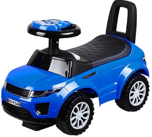 Машинка-каталка BESTLIKE со звуком, PVC колеса, синяя (613W)